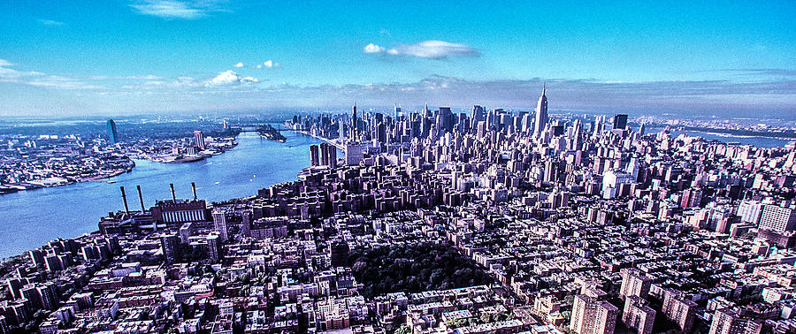 Manhattan Photograph - Manhattan Seen From North  by Kim Lessel