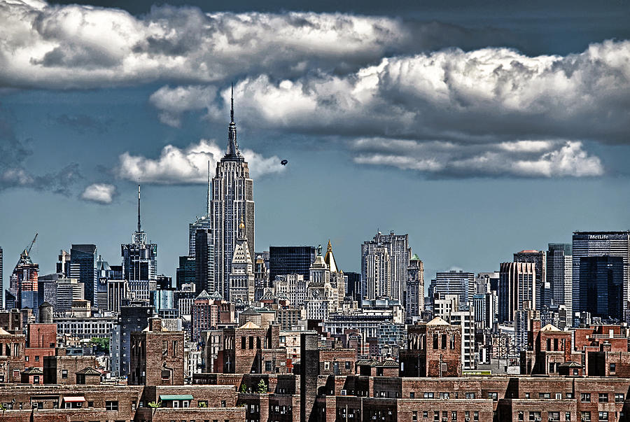 Nyc Photograph - Manhattan-skyline by Joachim G Pinkawa