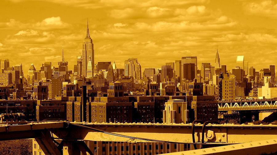 Fine Art America Prints Photograph - Manhattan Skyline by Moniques Fine Art