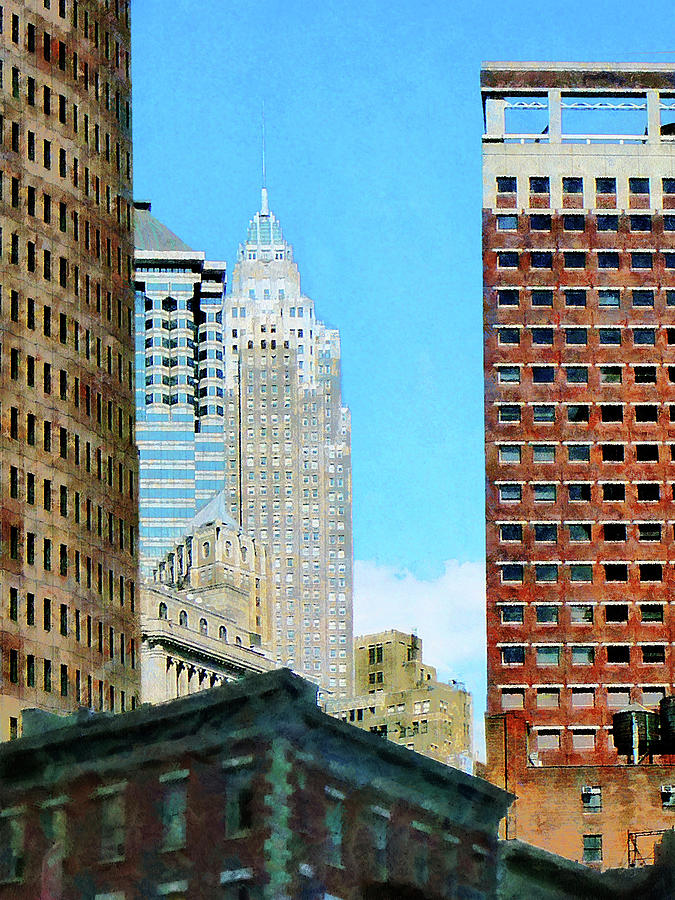 Urban Photograph - Manhattan Skyscrapers by Susan Savad