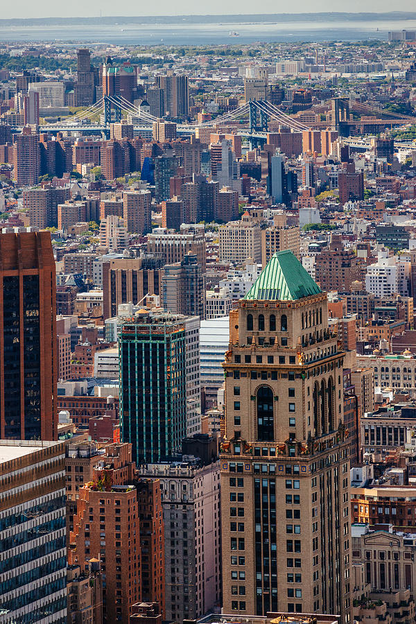 Tower Photograph - Manhattan View From The Roof by Alyaksandr Stzhalkouski