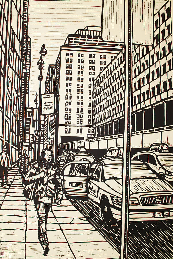 Nyc Drawing - Manhattan by William Cauthern
