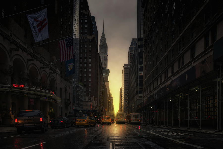 Chrysler Photograph - Manhattanhenge by David Mart?n Cast?n