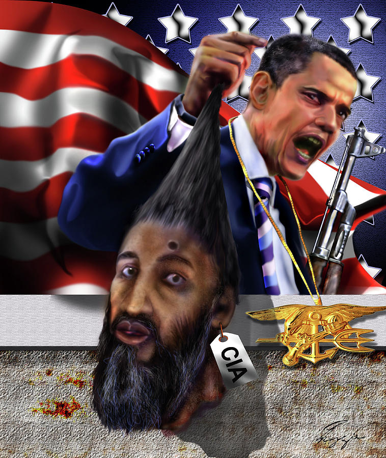 President Barack Obama Painting - Manifestation Of Frustration - I Am Commander In Chief - Period - On My Watch - Me And My Boys 1-2 by Reggie Duffie
