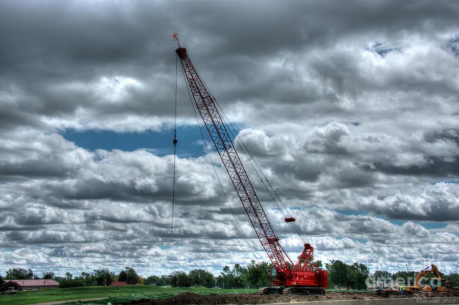 Crane Photograph - Manitowoc by M Dale
