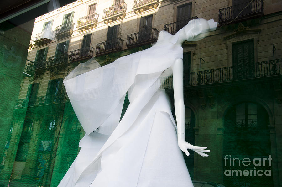 Poster Photograph - Mannequin In Barcelona by Victoria Herrera