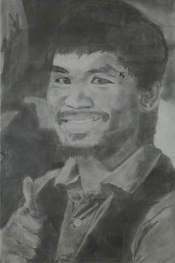 Manny Pacquiao Drawing - Manny Pacquiao by Terence Leano