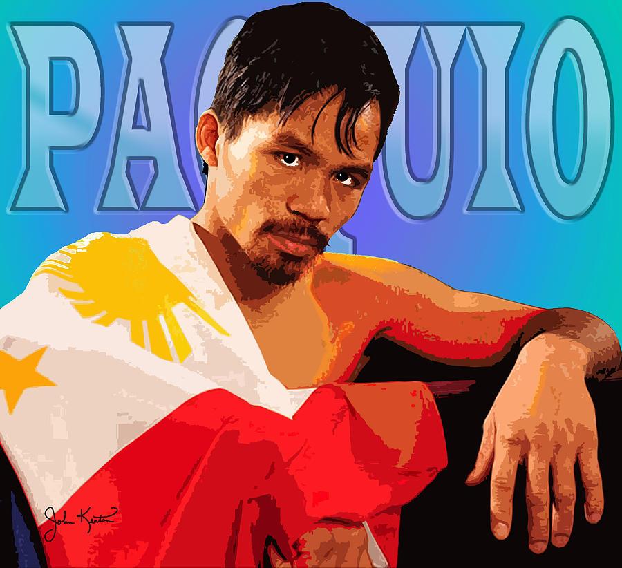 Boxing Digital Art - Manny Pacquio by John Keaton
