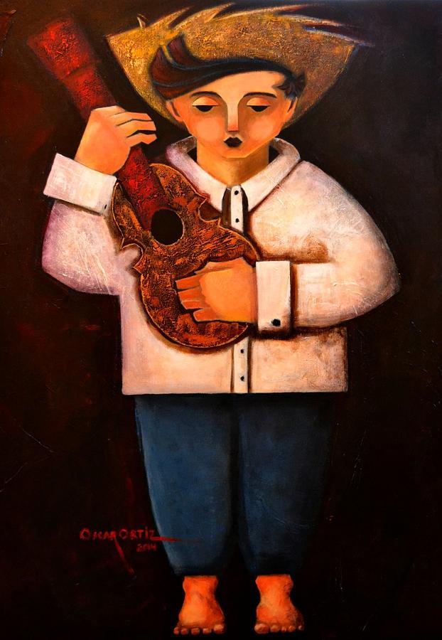 Manolito el cuatrista 1942 by Oscar Ortiz