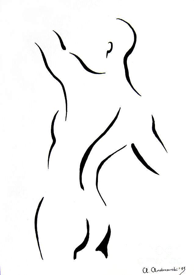 Drawing Painting - Mans Torse by Anna Androsovski