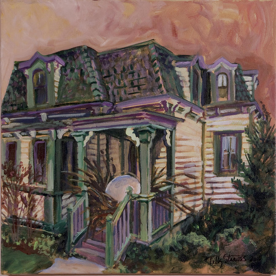 Architecture Painting - Mansard House With Nest Egg by Tilly Strauss
