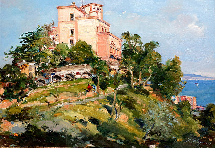 Mansion Painting - Mansion Of King Zogu  by Sefedin Stafa