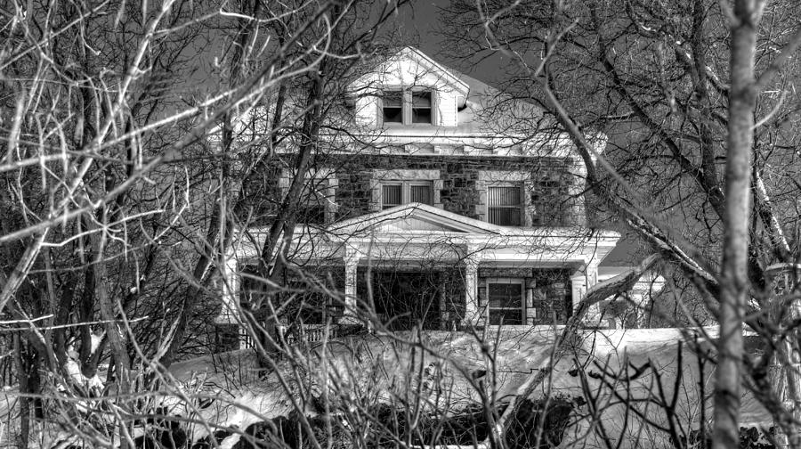 Black And White Photograph - Mansion On The Hill by Ric Potvin