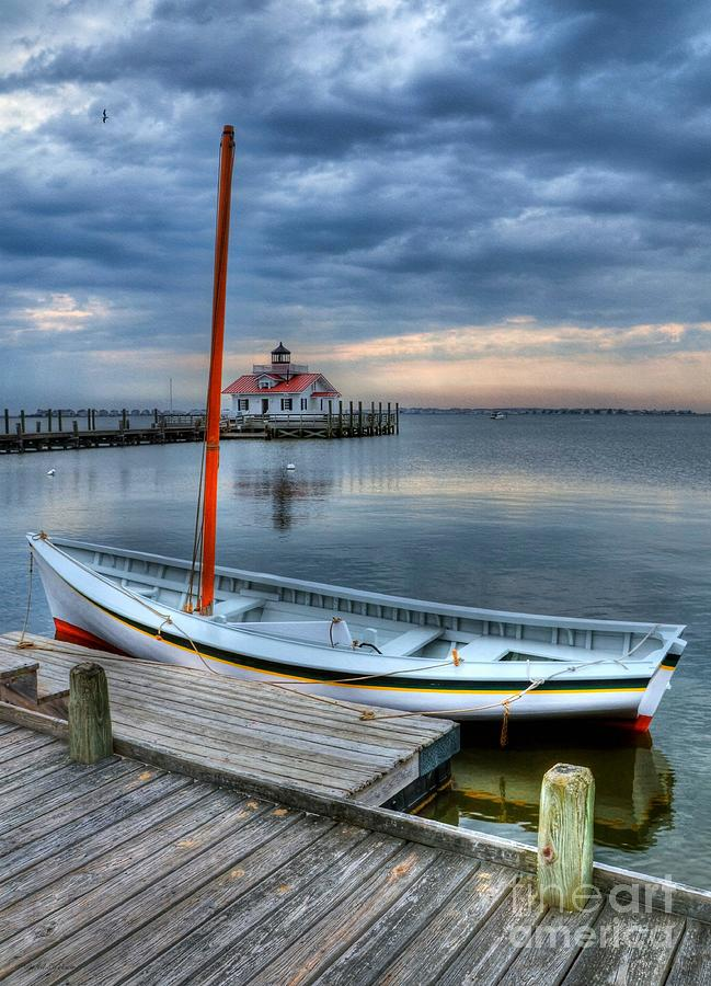 Boats Photograph - Manteo Waterfront 2 by Mel Steinhauer