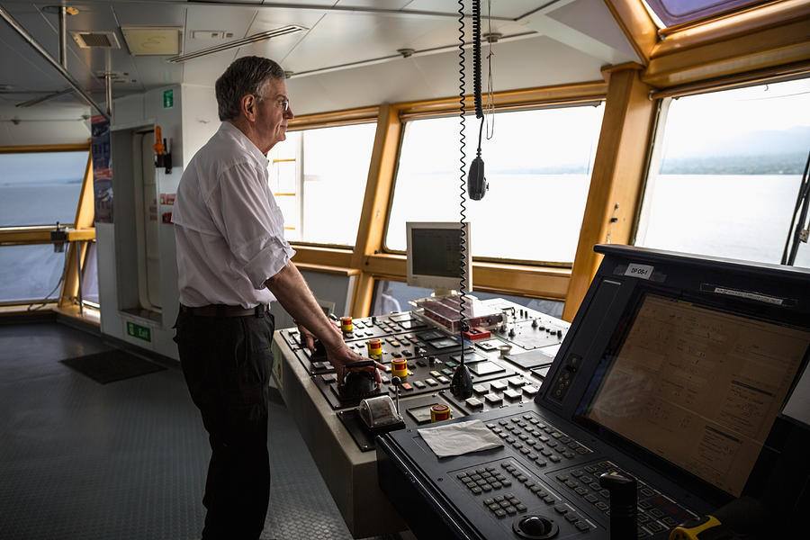 Manuevering Z-drive Ship Photograph by Gregory Daley  MPSA