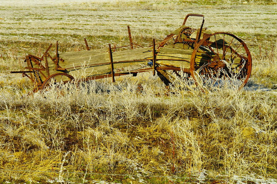 Relics Photograph - Manure Spreader by Jeff Swan