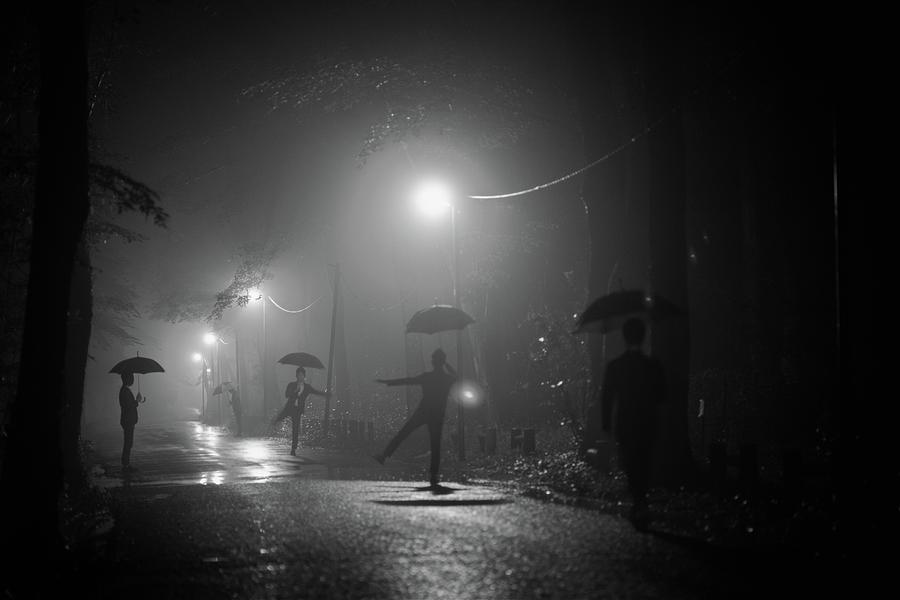 Umbrella Photograph - Many Myself by Takashi Suzuki