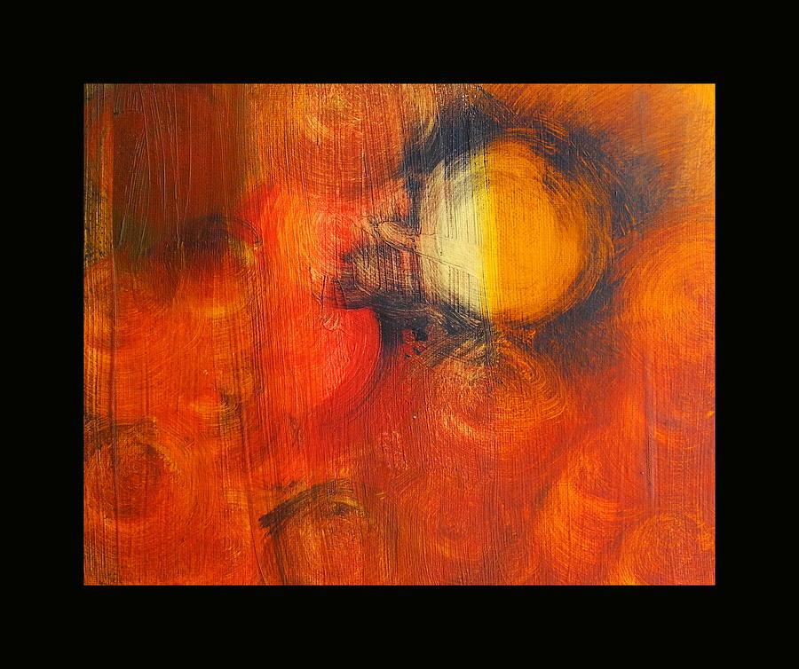 Orange Painting - Many Suns by Sue McElligott