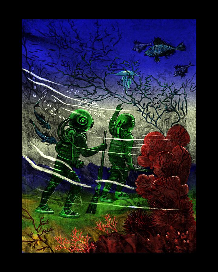 Underwater Digital Art - Many Wonders by Jason Edwards