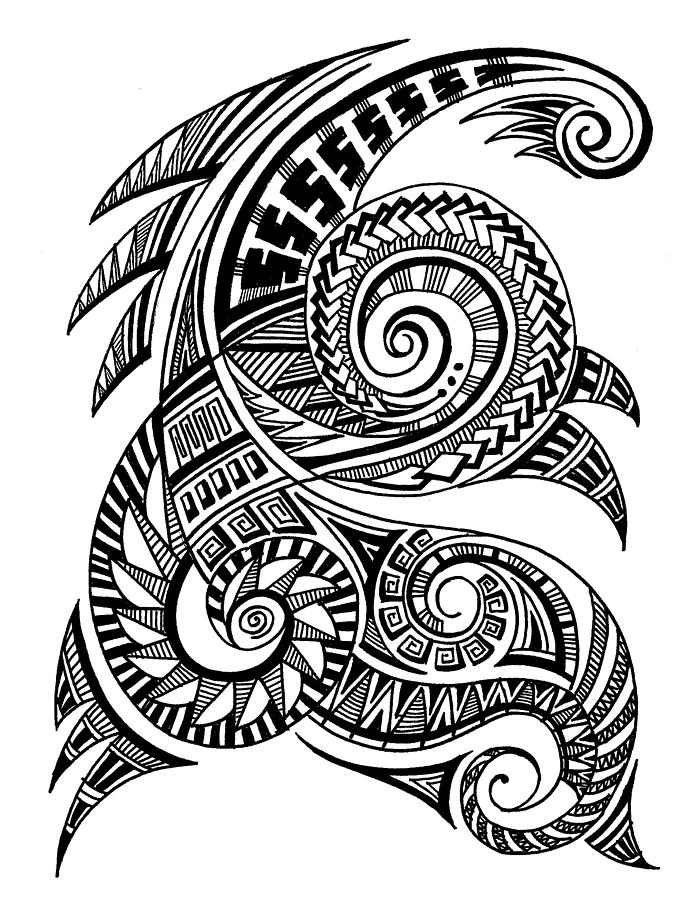 Maori Art Drawing By Art N Soul