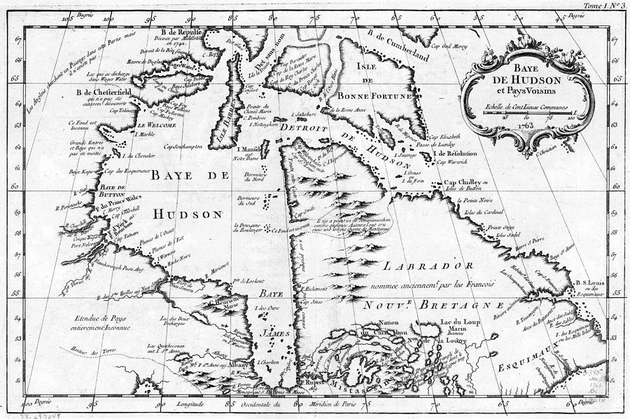 Map Hudson Bay, 1764 by Granger