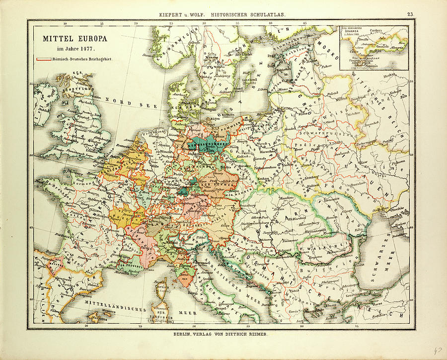 Map Of Central Europe In 1477