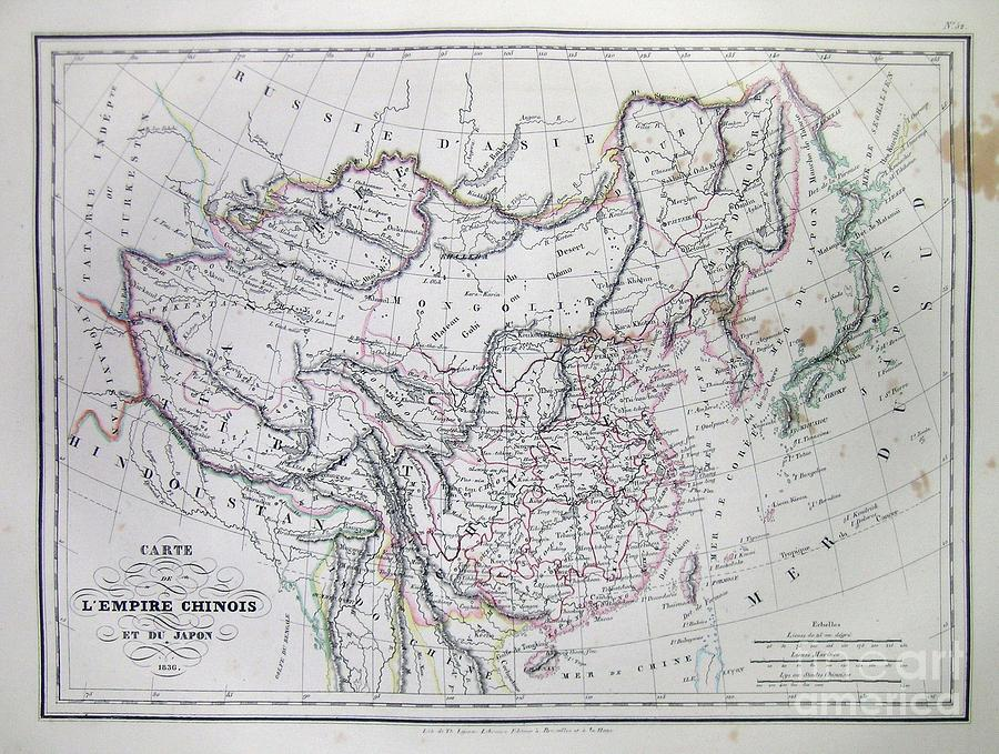 Abstract Photograph - Map Of China And Japan by Paul Fearn