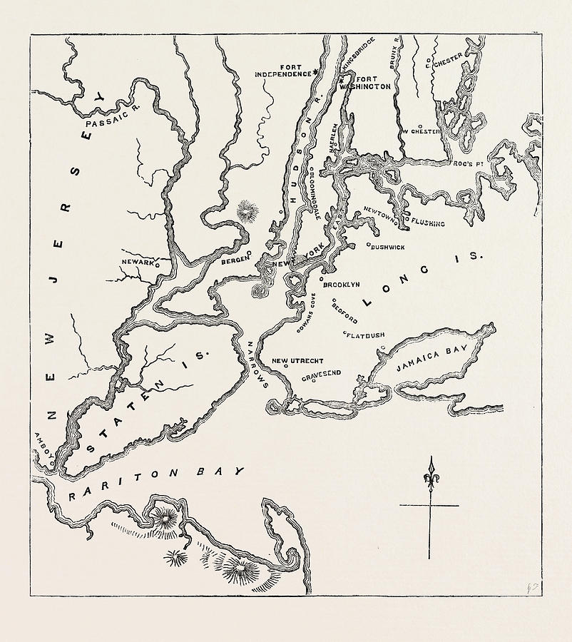Map Of New York 1776.Map Of New York And Vicinity 1776 United States Of America By American School