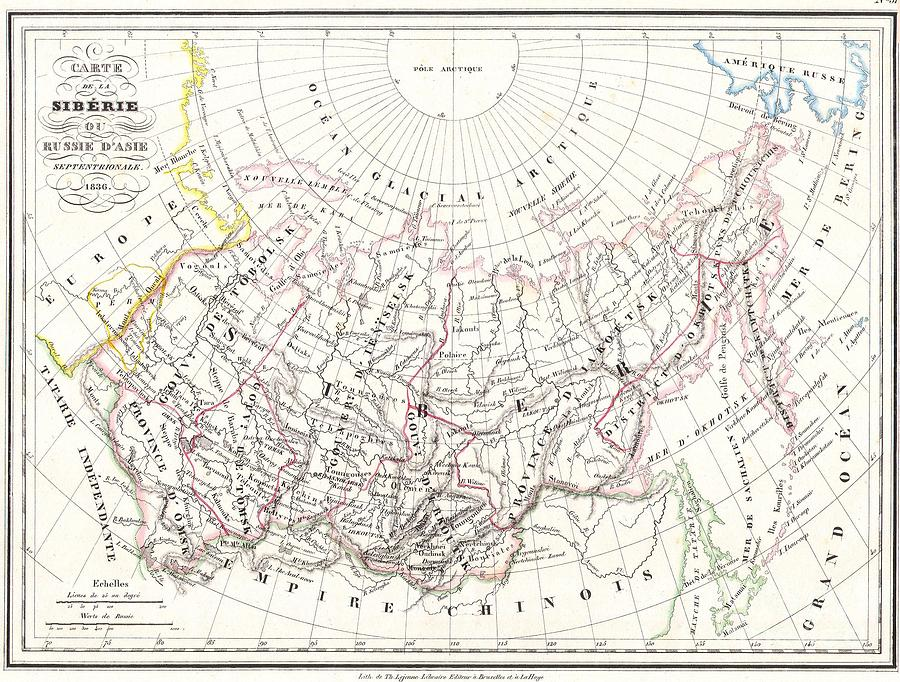 Abstract Photograph - Map Of Russia In Asia And Siberia by Paul Fearn