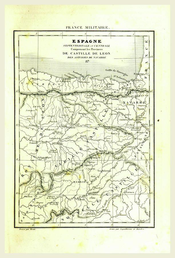 Map Of Spain Leon.Map Of Spain Castille De Leon By Litz Collection