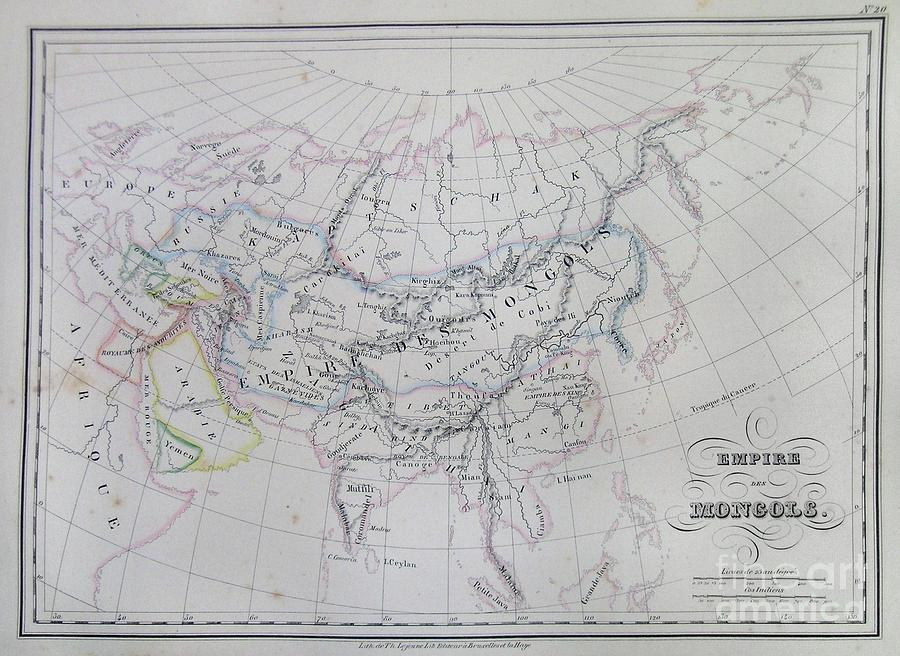 Abstract Photograph - Map Of The Mongol Empire In Asia And Europe by Paul Fearn