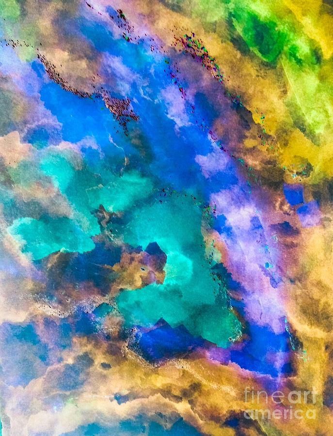 Abstract Painting - Map Of The Tribe by Laura Hamill