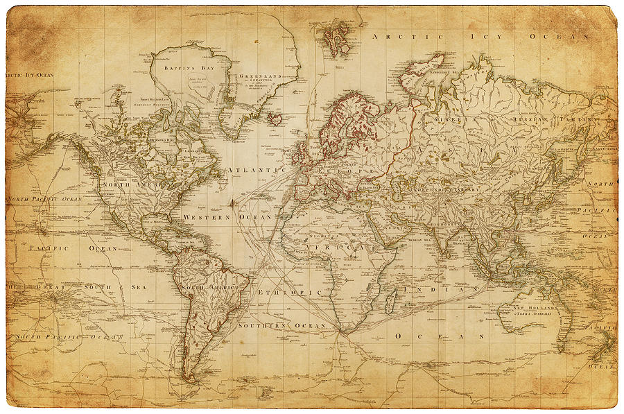 Map Of The World 1800 by Thepalmer
