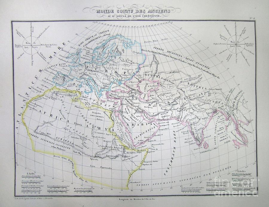 Abstract Photograph - Map Of The World According To The Ancients by Paul Fearn