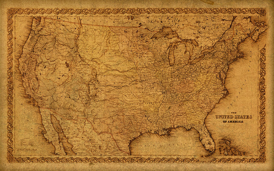 framed maps of the united states with Map Of United States Of America Vintage Schematic Cartography Circa 1855 On Worn Parchment Design Turnpike on Historic Route 66 Cartoon Map Kevin Middleton moreover Jenny Watts Treasure Map Found additionally Pubg Pistol P18c Description as well Westeros Free Cities Map Fanart in addition 1932 Ruth Taylor White Oahu P 196.