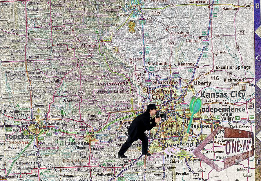 Cities Photograph - Map Overland Park Kansas by Liane Wright