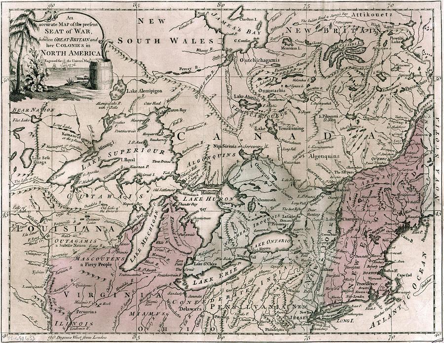 Map Revolutionary War, 1776