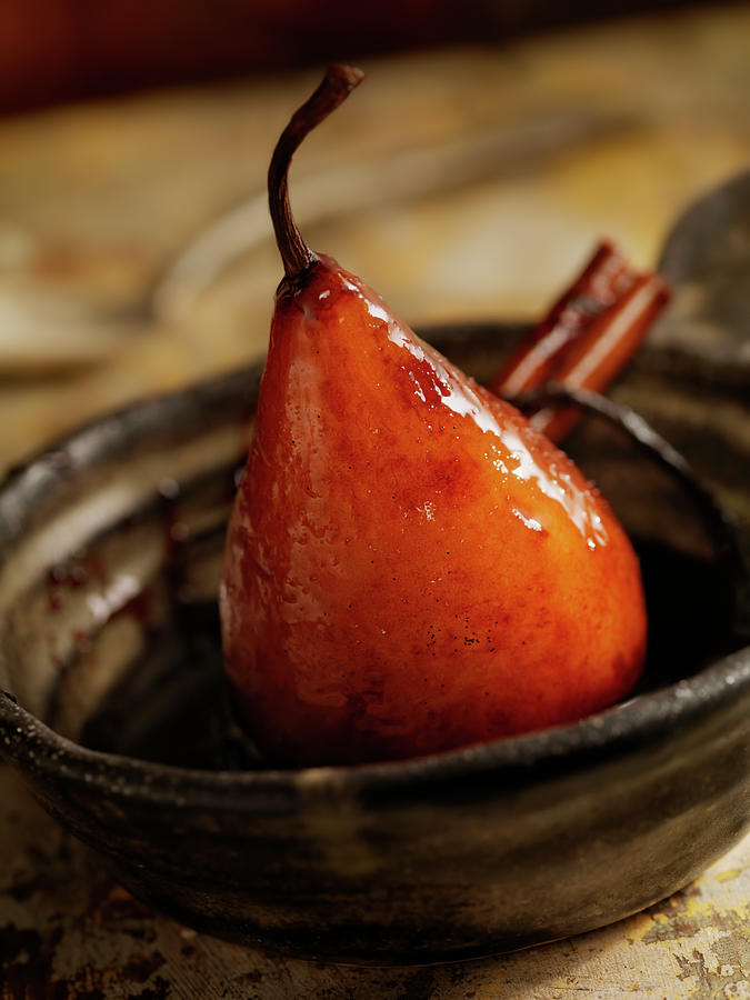Maple Glazed Poached Pear Photograph by Lauripatterson