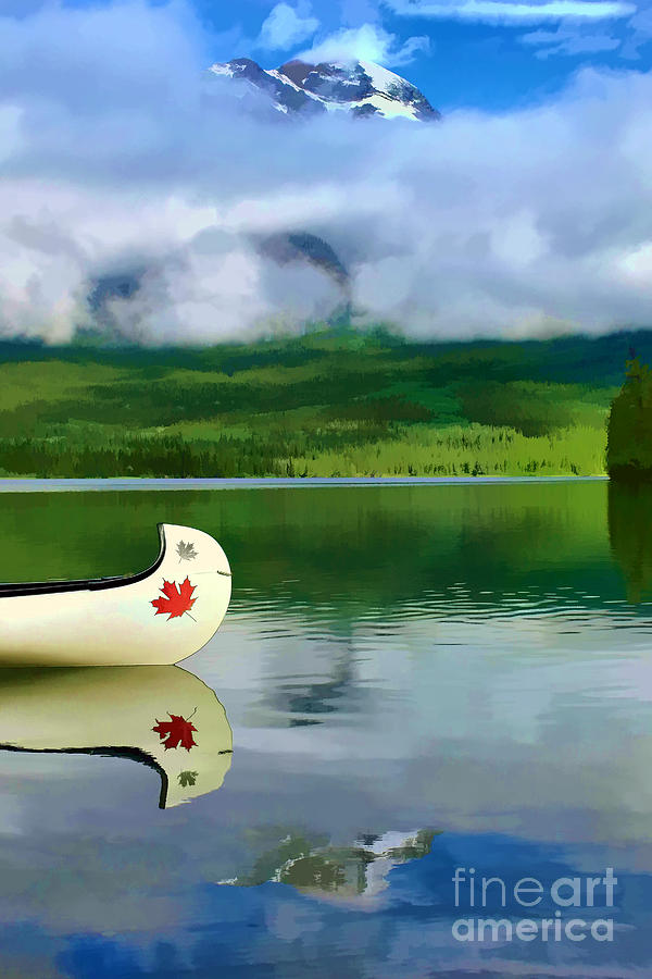 Canoe Photograph - Maple Leaf Canoe On Pyramid Lake by Teresa Zieba