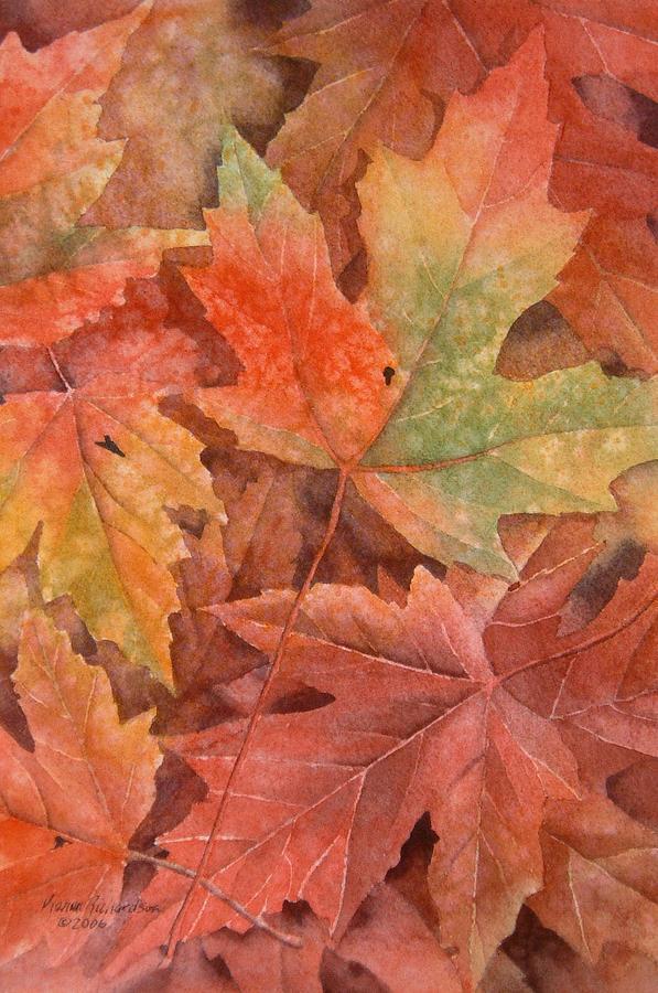 Watercolor Painting - Maple Leaf Rag by Karen Richardson