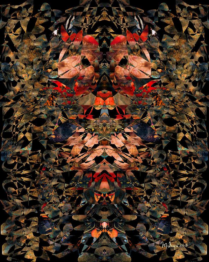 Colorful Digital Art - Maple Leaf Rag by Mike Butler