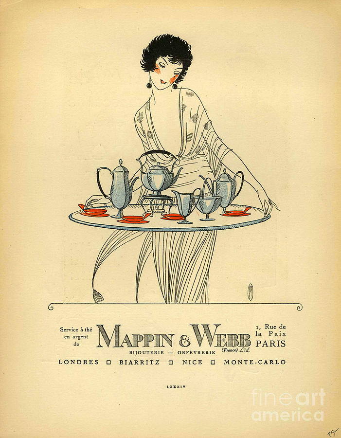 1920�s Drawing - Mappin And Webb  1920s France Cc Tea by The Advertising Archives