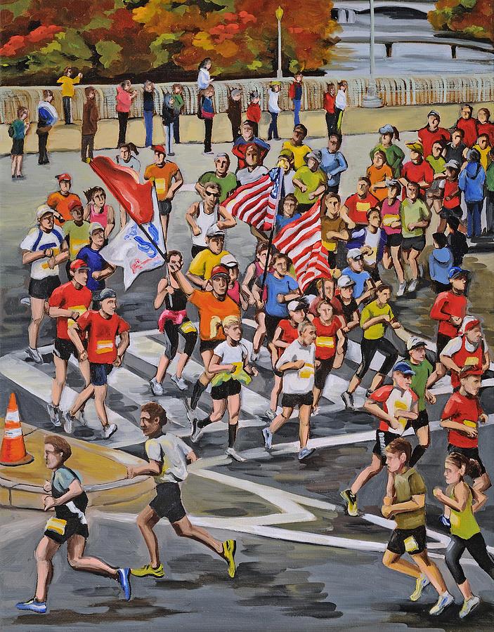Washington D.c. Painting - Marathon by Anne Lewis