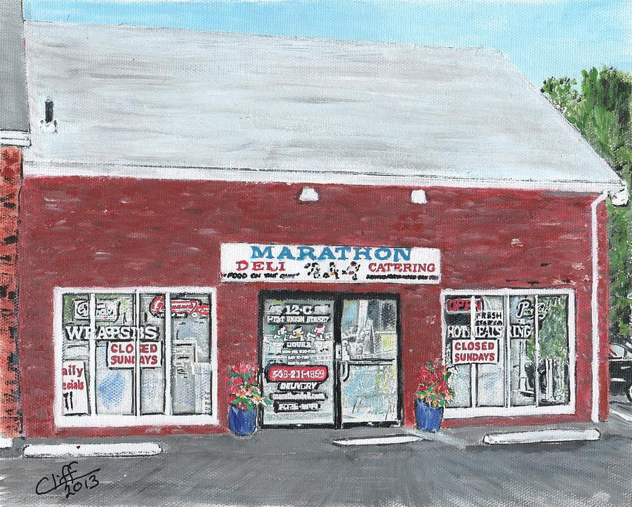 Food And Beverage Painting - Marathon Deli by Cliff Wilson