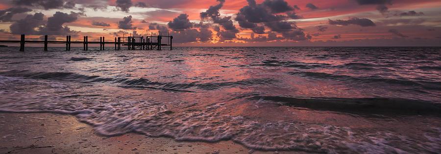 Afterglow Photograph - Marathon Key Sunrise Panoramic by Adam Romanowicz