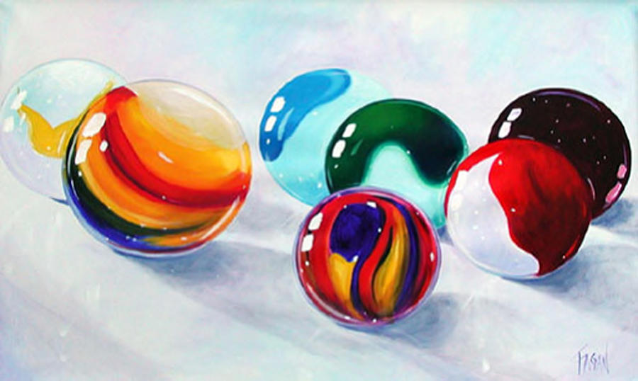 Marbles Painting - Marbilicious by Beverly Fagan Gilbertson
