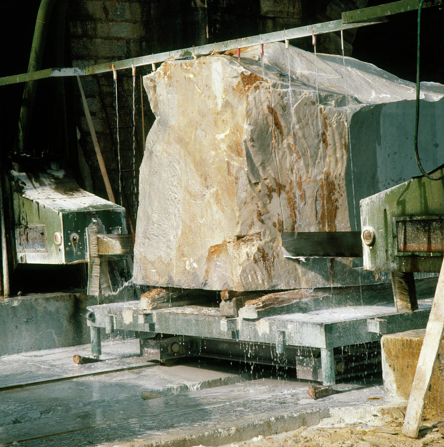 Marble Quarry Photograph - Marble Quarry At Fantiscritti Caves by Sheila Terry/science Photo Library.