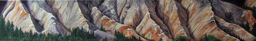 Mountains Painting - Marble Ridge by Elaine Booth-Kallweit