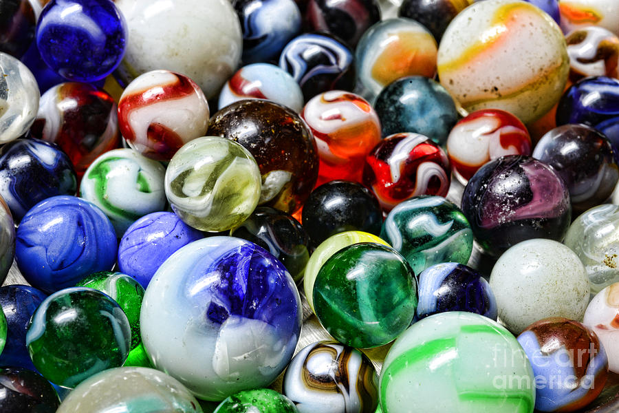 Paul Ward Photograph - Marbles All That Color by Paul Ward