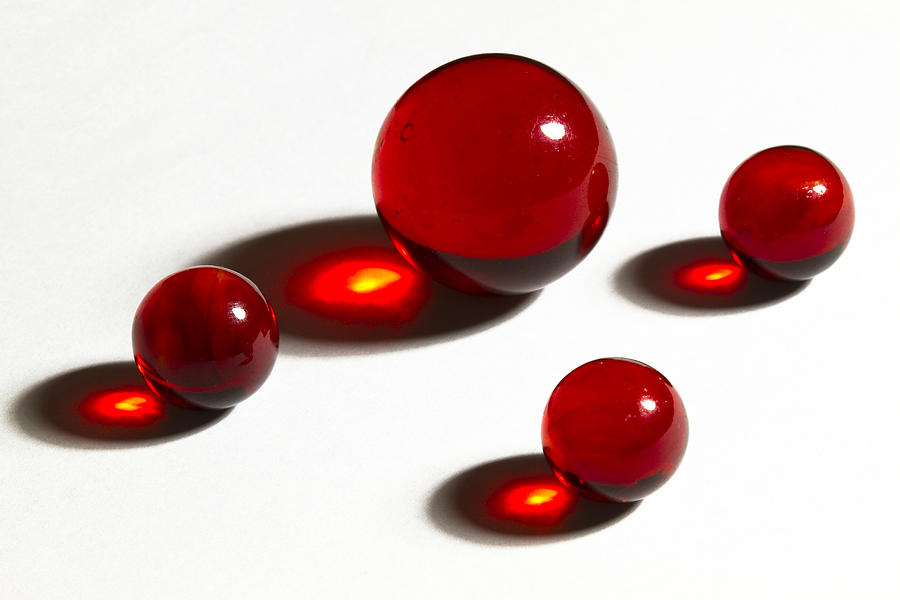 Marbles Red 2 Photograph By John Brueske